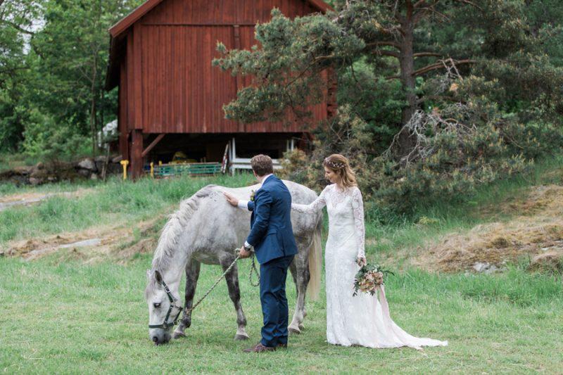 Långängensgård,häst på bröllop