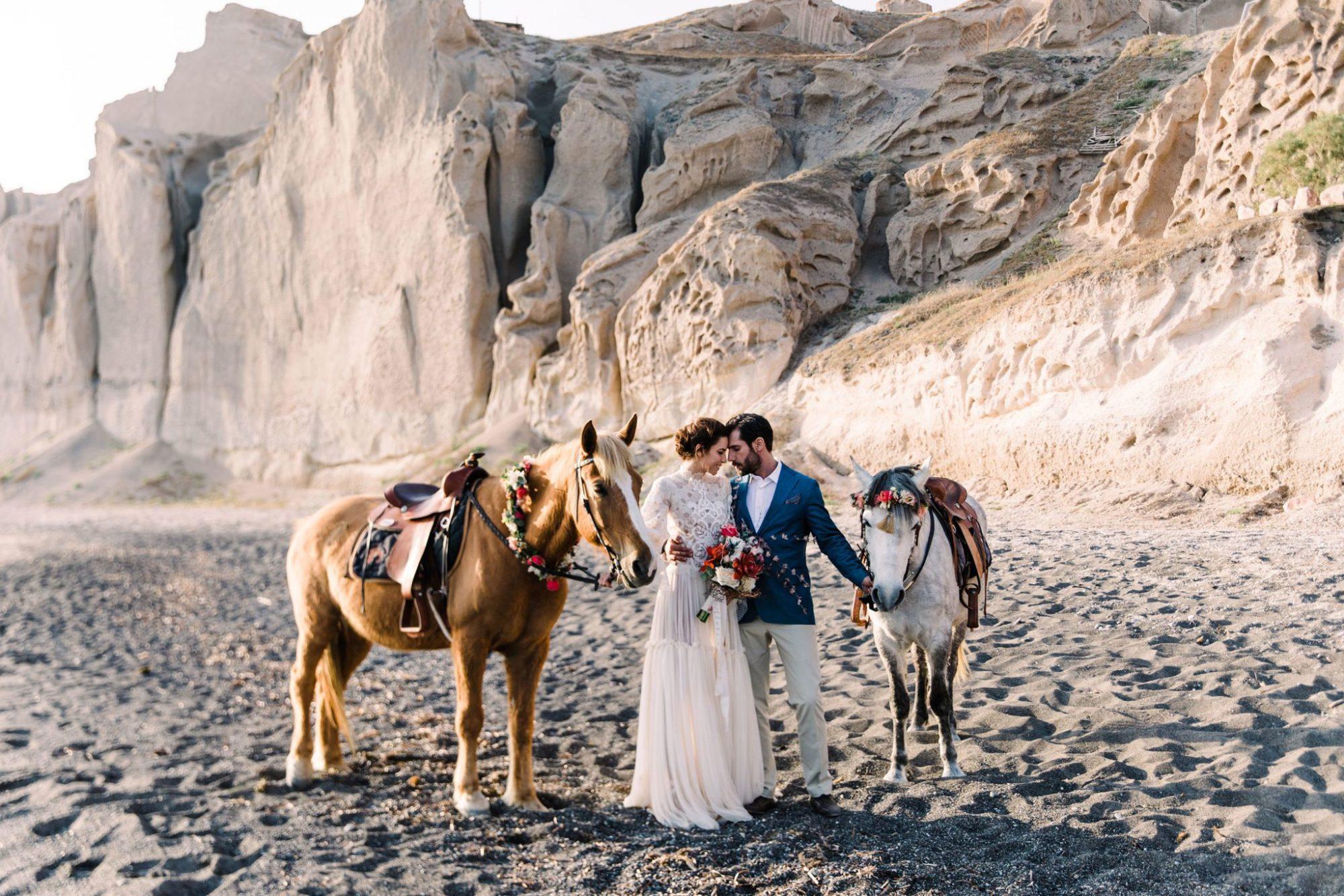 Bröllop på Santorini