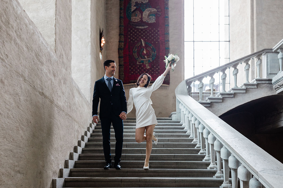 fotograf bröllop Stadshuset