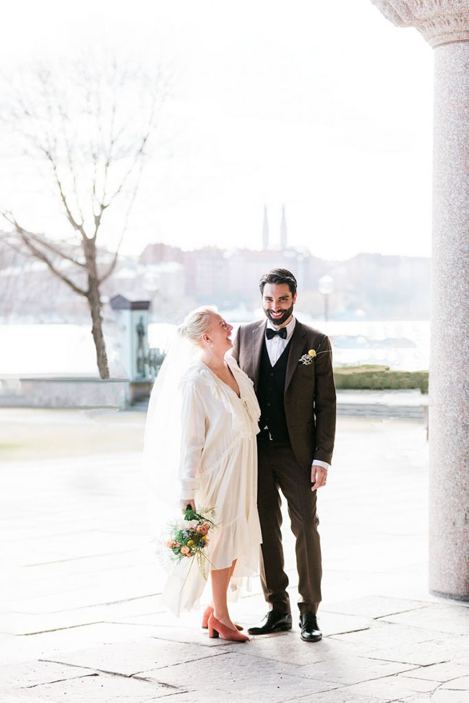 Skrattande brudpar, City hall, Stockholm