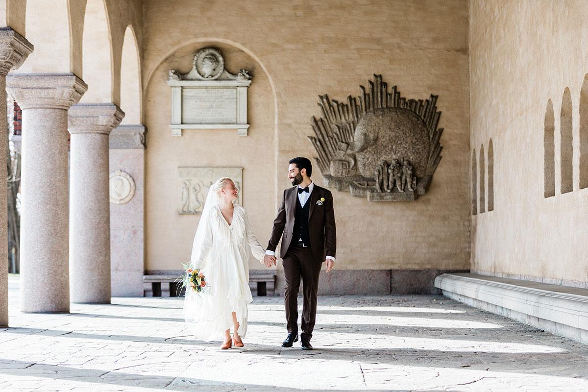 Vigsel med bröllop i Stockholms Stadshus