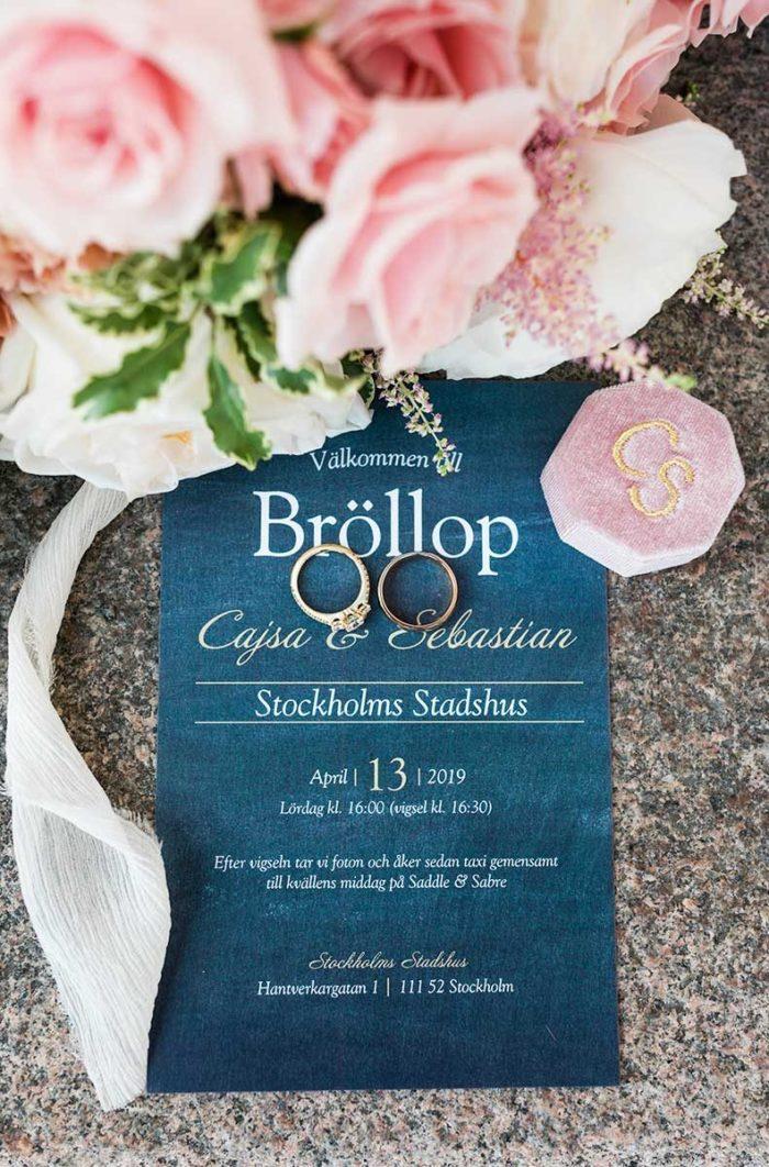 Bröllopsinbjudan till Stadshuet