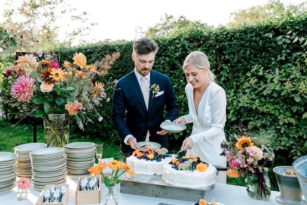 Bröllopstårta; Rosendals Trädgård