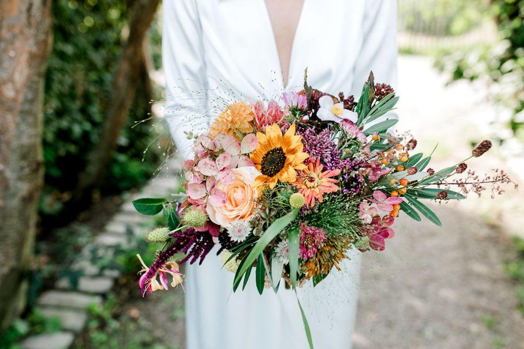 Bröllop på Rosendals Trädgård, brudbukett