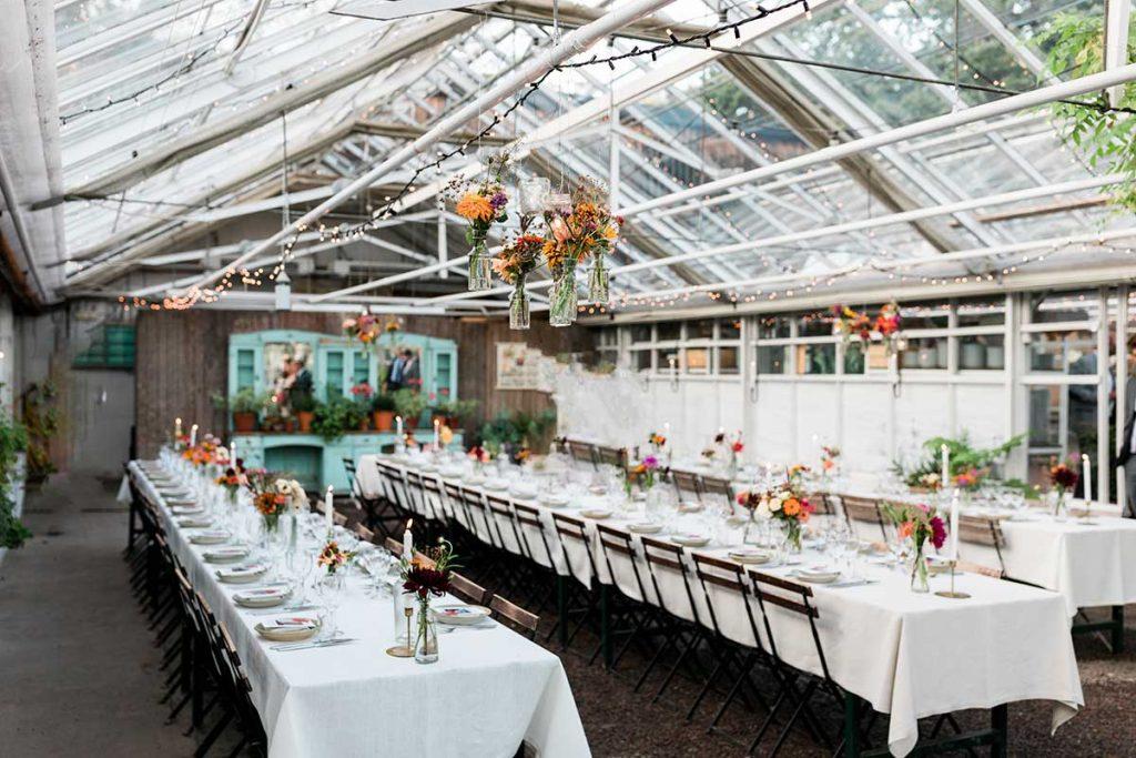 Bröllopsdukning;Rosendals trädgård