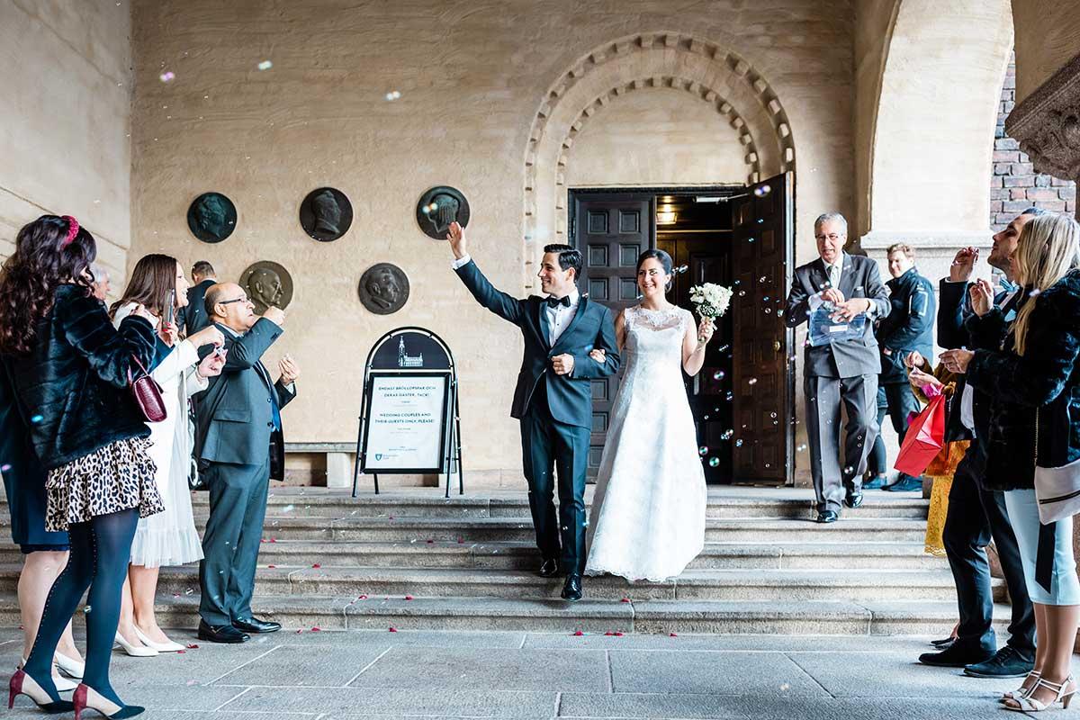 Bröllop med vigsel i Stockholm Stadshus